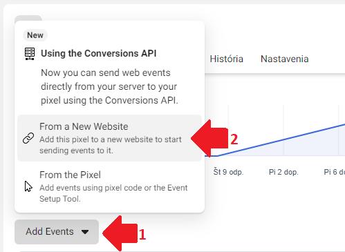 Manuálne nastavenie Facebook pixelu pomocou HTML.
