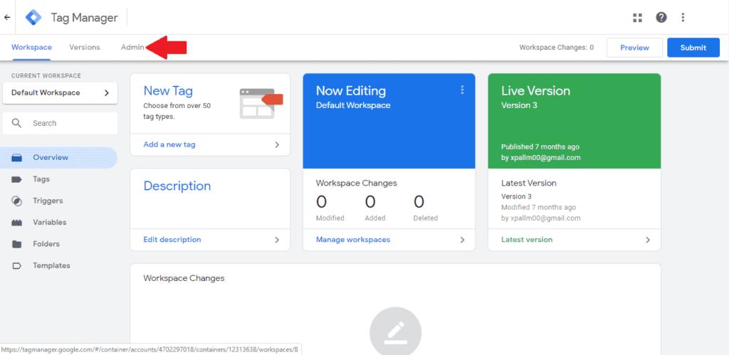 Udelenie prístupu v účte Google Tag Manager.