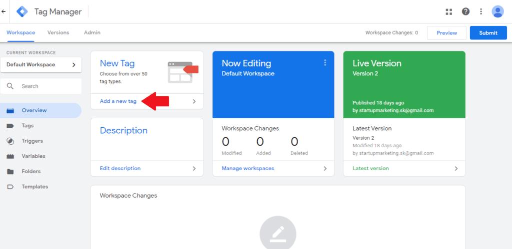 Vytvorenie tagu pre vloženie Facebook pixelu na web cez Google Tag manager.